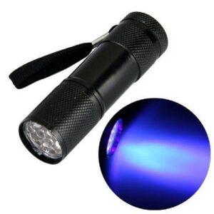 Lanterna LED UV – Preta