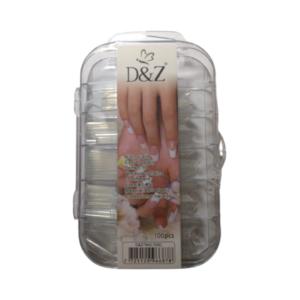 Tips Curvatura C – Transparente – 100un – D&Z