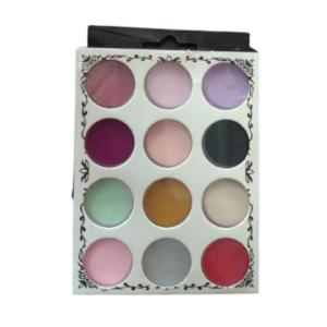 Pó Pigmento Colorido – Para Maquiagem E Unhas – 12 Cores – Zi Fang Nail