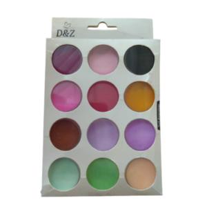 Pó Pigmento Colorido – Para Maquiagem E Unhas – 12 Cores – D&Z