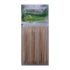 Palito De Bambu – Com Chanfro 12cm – 50un – HigiBeauty