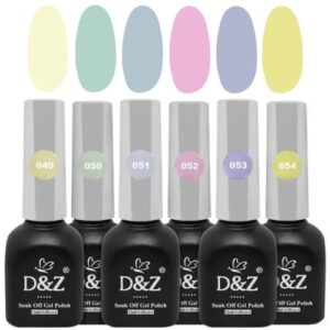 Coleção De Esmalte Em Gel – Pastel – 6 Cores – D&Z