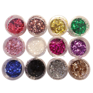 KIT Glitter Flocado Pequeno – 12 Cores – D&Z