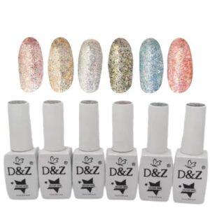 Coleção De Esmalte Em Gel – Shine – 6 Cores – D&Z