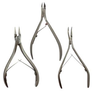 KIT Instrumentos Alicates De Podologia – 3 Itens – Slim