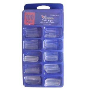 Tips Reta – 100un – Transparente – Venalisa