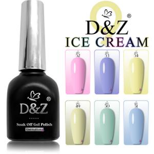 Esmalte Em Gel – Kit Ice Cream – 06 Cores D&Z