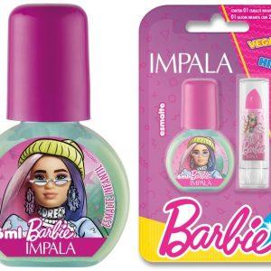 Esmalte Cremoso – Antenada 6 Ml + Batom Rosa Pink 1 G – Impala / Barbie