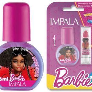 Esmalte Cremoso – Extraordinaria 6 Ml + Batom Rosa Cereja 1 G – Impala / Barbie