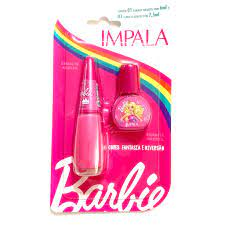 02 Esmaltes Cremosos – Reino Cor De Rosa – 7,5ml E 6 Ml – Impala / Barbie