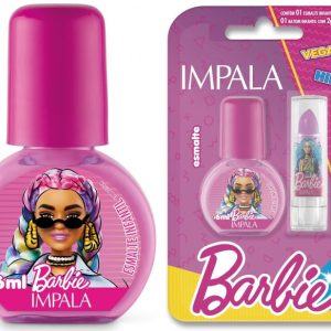 Esmalte Cremoso – Fashionista 6 Ml + Batom Roxo 1 G – Impala / Barbie