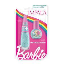 02 Esmaltes Glitter – Mergulho Mágico – 7,5ml E 6 Ml – Impala / Barbie